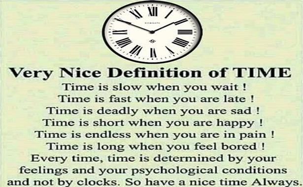 zamanın tanımı