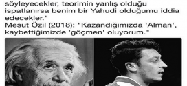 Albert Einstein ve Mesut Özil