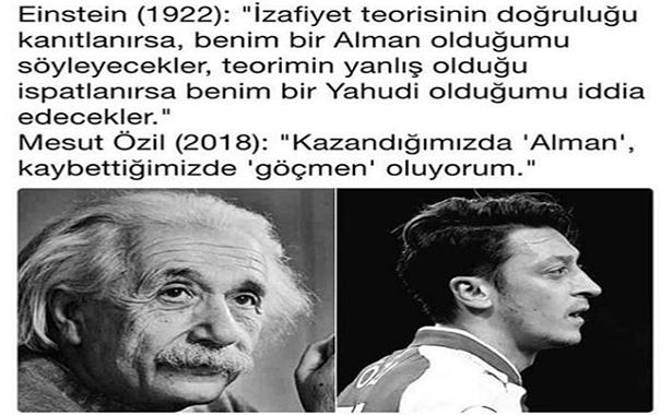Albert Einstein ve Mesut Özil sözleri