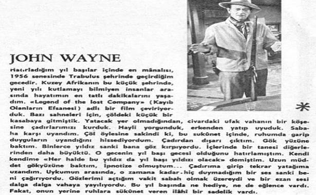 John Wayne'in Bir Yılbaşı Anısı